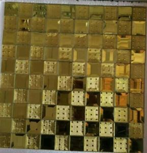 Gold Mosaic Diamond Mirror Mosaic Tile (HD067) pictures & photos