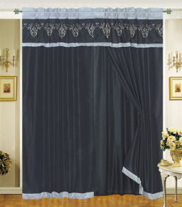 Embroidered Window Curtain 02