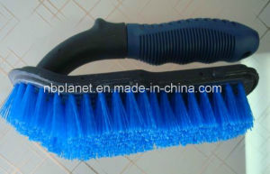 Plastic Hard Bristle Car Tire Cleaning Handy Brush pictures & photos