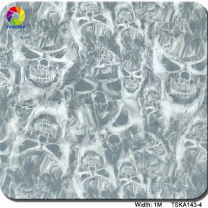 Tsautop 1m Tska143-4 Flame and Skull Hydrographic Film/Transfer Printing Film pictures & photos