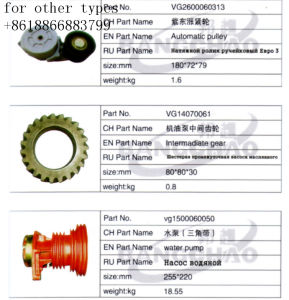 Sinotruck HOWO Shacman Foton JAC Truck Spare Parts Pulley Assy pictures & photos