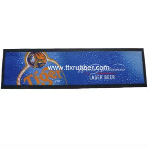 Cmyk Full Color Printed Non-Slip Customized Rubber Bar Mat pictures & photos
