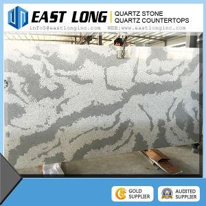 Marble Look Brown Color Artificial Quartz Stone Slabs for Sale pictures & photos