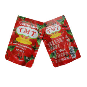 Tmt Brand Standing Sachet Tomato Paste of 70g pictures & photos