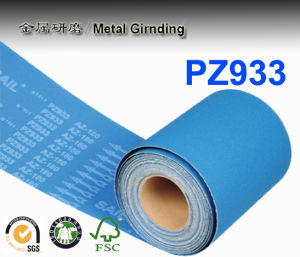 Waterproof Abrasive Cloth Roll for Stainless Steel Pz933