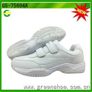 New Black and White Tennis Footwear Badminton Shoes pictures & photos