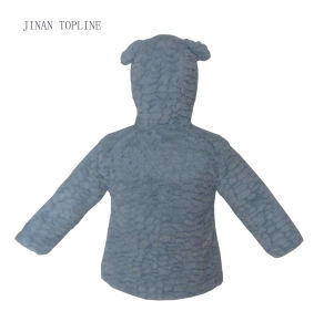 Children Wind-Proof Fake Fur Thermal Cute Coat with Pressed Button pictures & photos