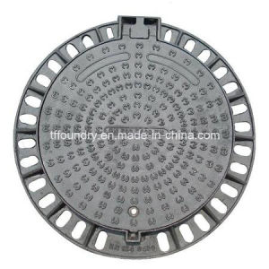 Round Ductile Cast Iron D400 Manhole Cover with Frame (DN600)