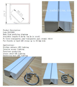 V Shape Aluminum LED Profile 30*30mm pictures & photos