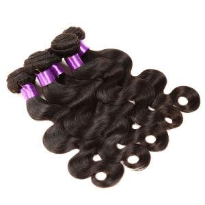Peruvian Virgin Hair Body Wave 3bundles Natural Color #1b Unprocessed Human Hair Weaves Cheap Peruvian Body Wave pictures & photos