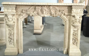Nature Marble Fireplace Sculpture for Indoor Decoration pictures & photos