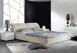 Leather Bed, Soft Bed (W022) pictures & photos