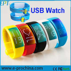 Smart 3D Pedometer LED Watch USB Flash Drive (EG43-B) pictures & photos