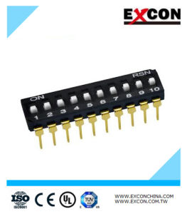 Electrical DIP Switch Excon Ri-10 with 10 Positions pictures & photos