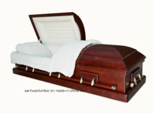 New Model Casket with Simple Casket Handles 70h pictures & photos