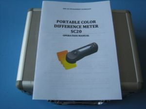Color Difference Meter, Colorimeter (SC20) with Software to PC pictures & photos