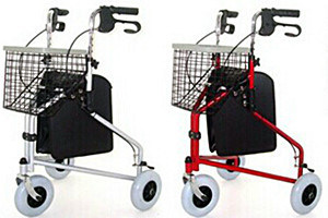 Three Wheel Folding Steel Rollator (2309)
