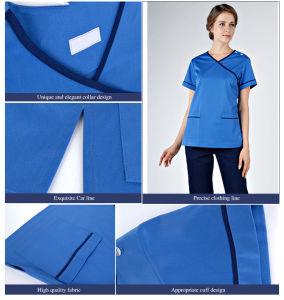 Light Blue Medical Scrubs, Hospital Uniform, Nurse Working Wear pictures & photos