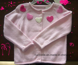 Girls Cotton Cardigan - True Knitted Sweater pictures & photos