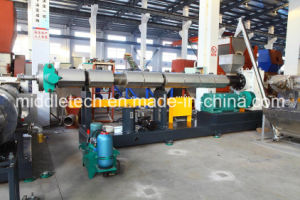 Waste Plastic PE/PP Bottle/Drum Flakes Pelletizing Machine pictures & photos
