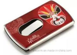 Hand Push Type Business Card Holder, Soft Enamel Business Card Holder pictures & photos