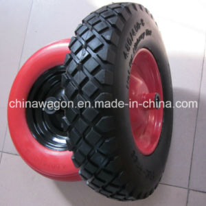"16"" Flat Free Wheel PU Foam Wheel for Wheelbarrow pictures & photos"