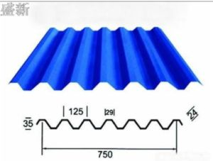 Light Blue Corrugated Roofing Sheet for Building pictures & photos