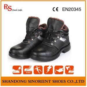 Chemical Resistant Winter Safety Shoes with Artifical Fur Lining RS820 pictures & photos