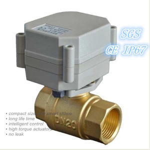 "Dn20-3/4"" Motorized Brass Ball Valve (T20-B2-A) pictures & photos"