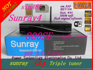Sunray Sr4 Triple Tuner with WiFi A8p SIM Card Boot 84