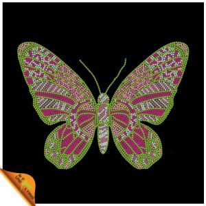 Hot Sale Beautiful Butterfly Rhinestone Transfers (CT)