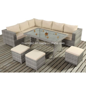Table Sofa Set for Outdoor with Rattan / SGS (404-1) pictures & photos