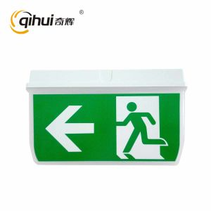 2017 Fire Emergency Light Rechargeable Exit Sign with Ce RoHS