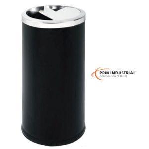 "Round Black Powder Coated Steel 29.5""H Indoor Dustbins pictures & photos"