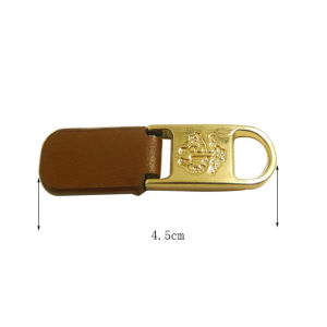 Zipper Slider High Quality Leather&Metal Zipper Puller pictures & photos