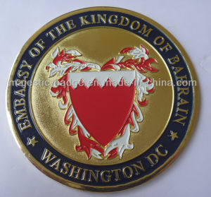 Gold Plating & Soft Enamel Customized Celebration Coin pictures & photos