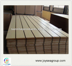 Plain and Melamine Slotted MDF Board Building Material pictures & photos