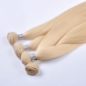 Double Drawn European Remy Human Hair machine Weft/Weaving pictures & photos