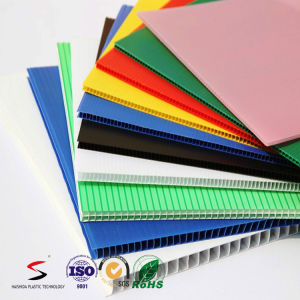 Corrugated Plastic Sheet PP Hollow Sheet pictures & photos