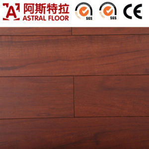 Silk Surface AC4 Single Click of Teak Laminated Wooden Flooring pictures & photos
