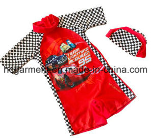 Kids Boy Swimming Suit. Cartoon Printed Jumpsuit Swimming Wear pictures & photos