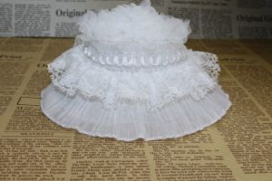 Wholesale White Elastic Ruffle Lace for DIY pictures & photos