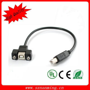 Panel Mount USB Bf to Micro B Cable (NM-USB-1356) pictures & photos