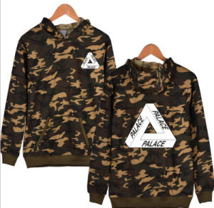 Factory Top Quality Long Sleeves Camouflage Screen Printing Hoodie with Hood pictures & photos