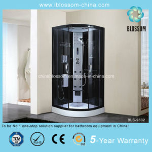 China Tempered Grey Glass Corner Steam Shower Room (BLS-9832) pictures & photos