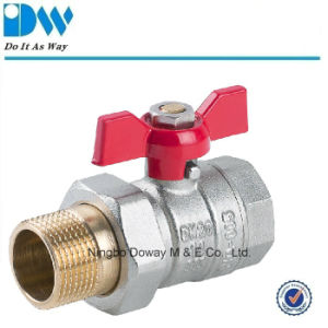 Qualified Union Brass Ball Valve with Aluminium Butterfly Handle pictures & photos