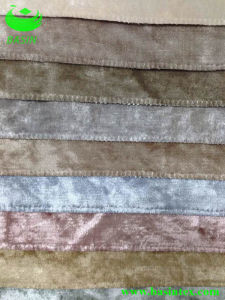 Tricot Glue-Etched Velvet Fabric (BS9054) pictures & photos