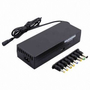 120W Universal Manual Laptop Power Supply, USB 5V/1A