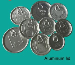 305# 78.4mm Aluminum Easy Open Lids for Powder Can pictures & photos