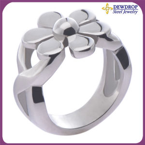 Flower Women Jewelry Exaggerated Ring Stainless Steel